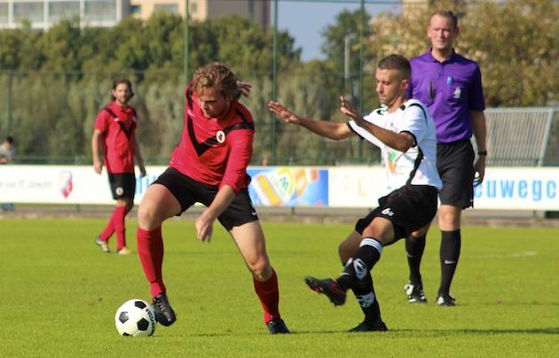 Pepijn Veerman was met twee treffers belangrijk voor AFC.
