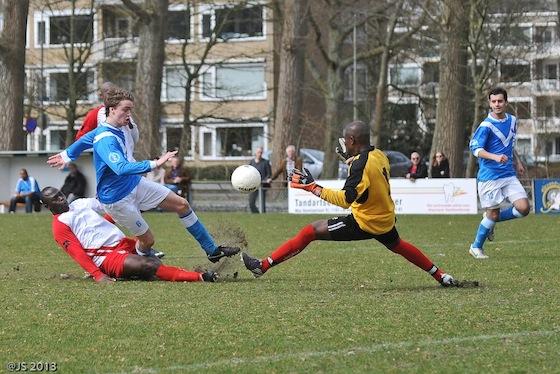 Foto Jos Spitteler: FC Amsterdam (zondag) verloor afgelopen weekend met 11-1 van NFC