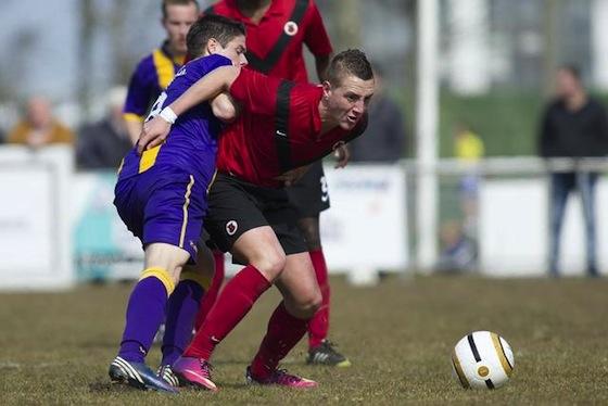 Foto website AFC: Mitchell Theuns scoorde twee keer voor AFC