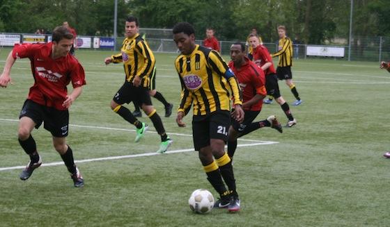 Foto Wim Poelstra: Jonathan Richard scoorde twee keer in de kampioenswedstrijd