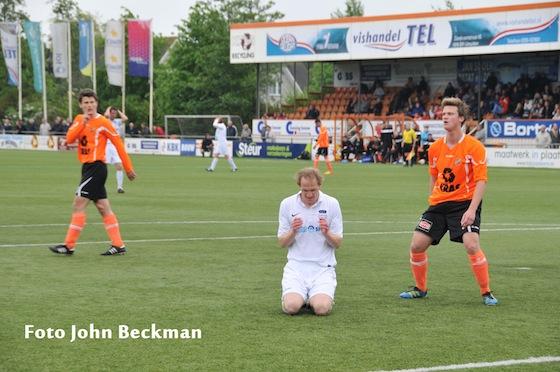 Frank van Aartrijk had tot twee keer toe de gelijkmaker op zijn schoen