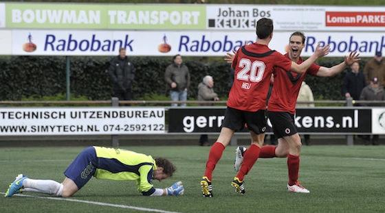 Joost Heij toen hij nog de kleuren verdedigde van AFC