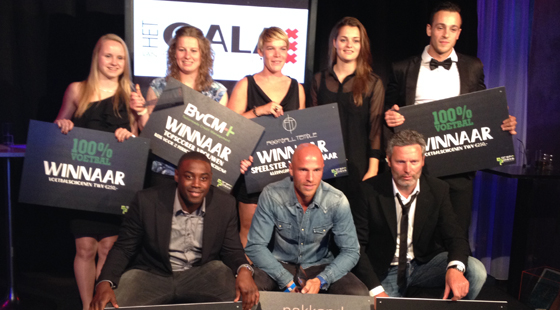 De winnaars van vorig seizoen van Het Gala van Het Amsterdamsche Voetbal in Escape