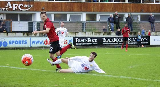 Foto Mario Wormhoudt: Koen Bosma zorgt al snel na rust voor de 2-0