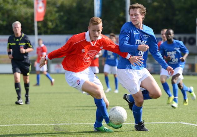 Sven Wierda was met drie treffers erg belangrijk voor Hoofddorp tegen Kampong. Archieffoto: Ton Hofstra