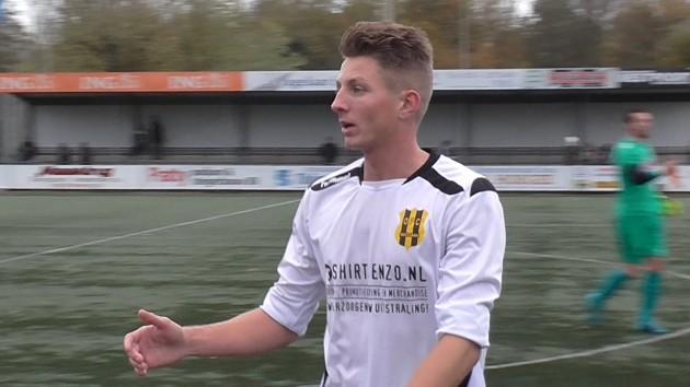 Foto HAV: Romano de Jonge scoorde twee keer in de laatste ontmoeting