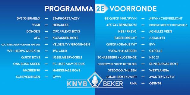 Tweede voorronde KNVB Beker