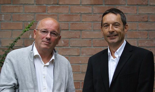 Oud-voorzitter Simon Rits (links) en huidig voorzitter van NFC: Bas Kesting (rechts)