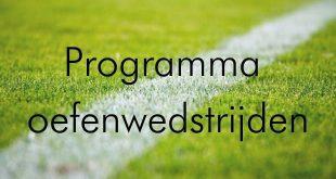 Programma oefenwedstrijden